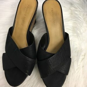 Franco Sarto Black Wedges -- Size 8.5